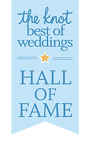 Beau Vaughn Photography's Hall of Fame award from theknot.com