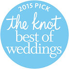 2015 Best of Weddings award from theknot.com