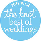 2017 Best of Weddings award from theknot.com
