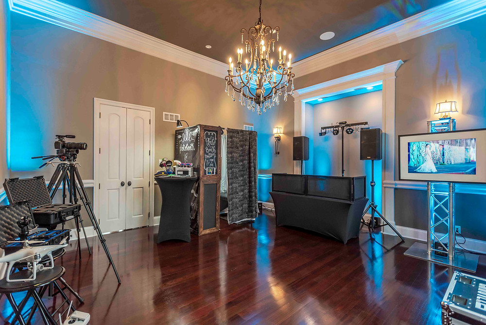 Beau Vaughn Photography's new show room at 27589 W. 151st St. Olathe, KS 66061 showcasing our wedding photography, videography, photobooth, dj & coordination services for weddings in Kansas, Kansas City, Missouri and Destinations