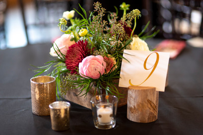 wedding flowers as a table decoration