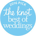 2016 Best of Weddings award from theknot.com