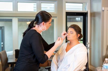 bride's makeup on wedding day