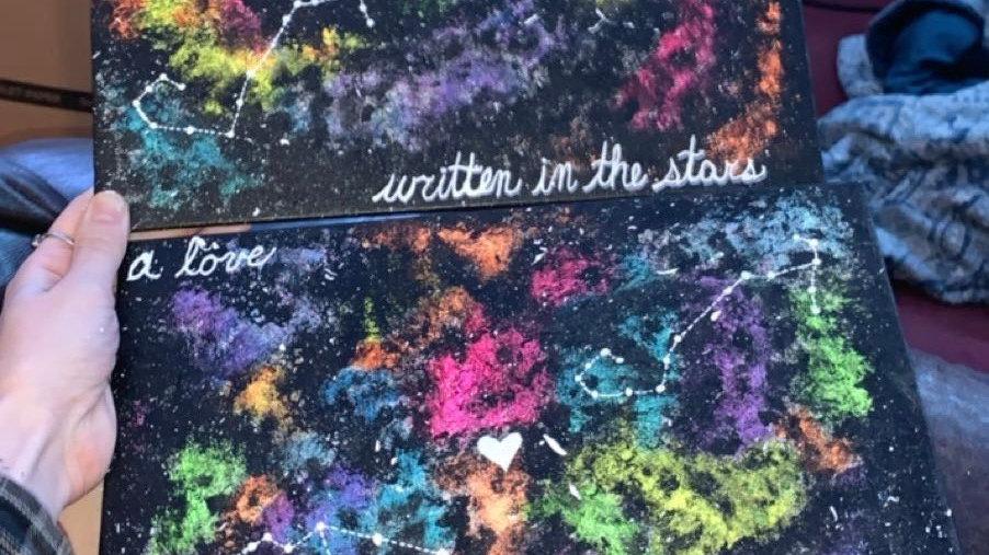 CUSTOM Star-Crossed Lovers Painting Pair