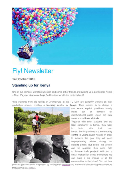 Our project in the EUROCONTROL Newsletter Fly!
