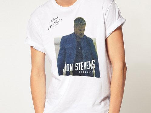 White T-shirt   Jon Stevens print
