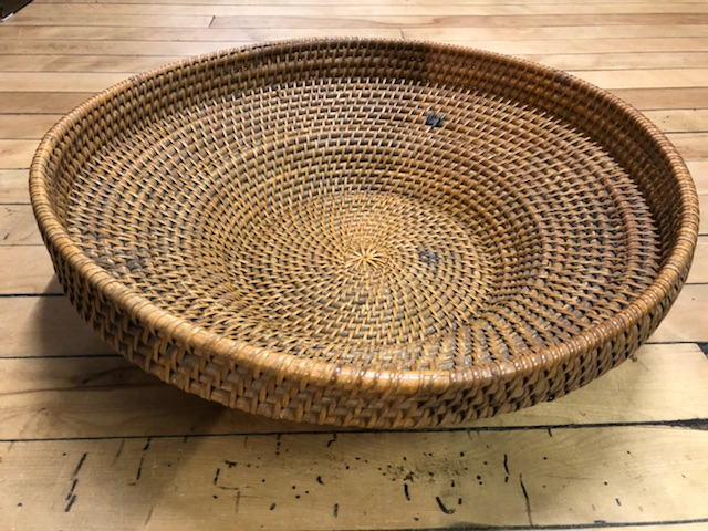Unusual Large Woven Basket Tray