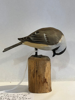 Hand Carved Chickadee