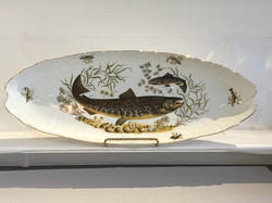 Gorgeous Czech Porcelain Fish Platter