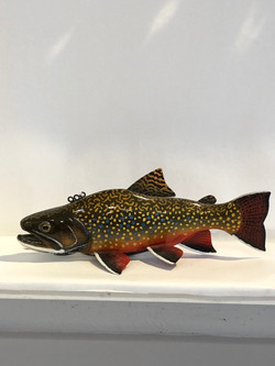 Hand Carved Brook Trout