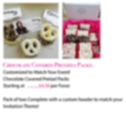 Chocolate Covered Pretzel Pack Favors