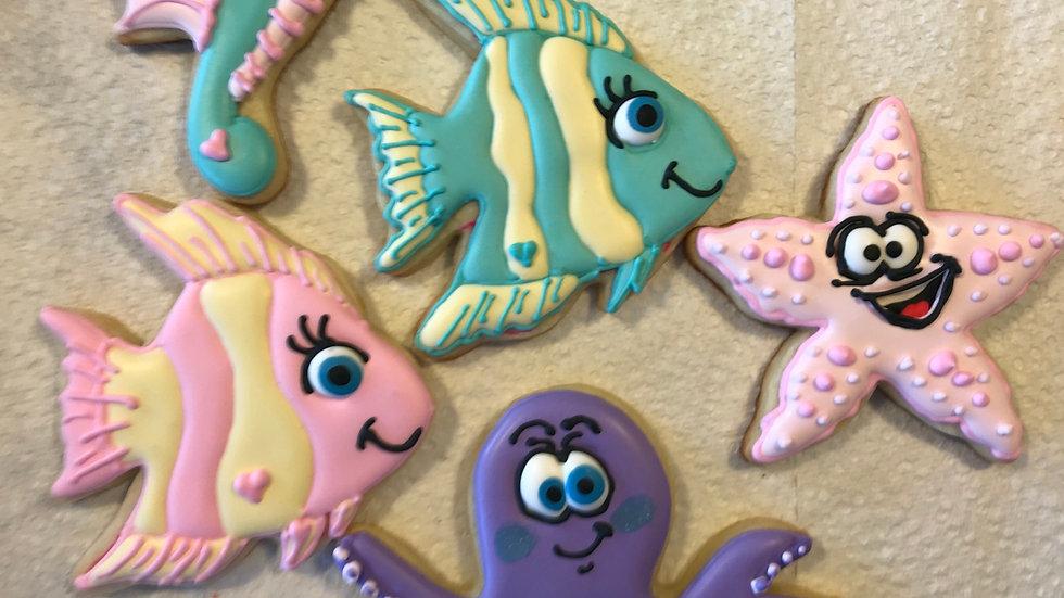 Under the Sea Cookies   1dozen
