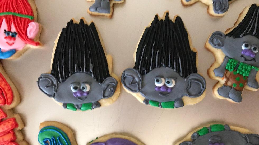 Trolls Cookies  One Dozen