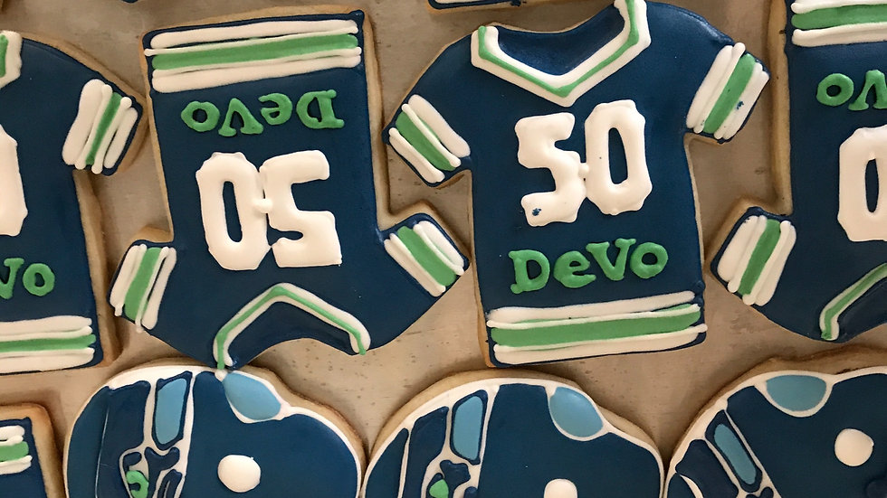 Football Cookies - made for your team - one dozen