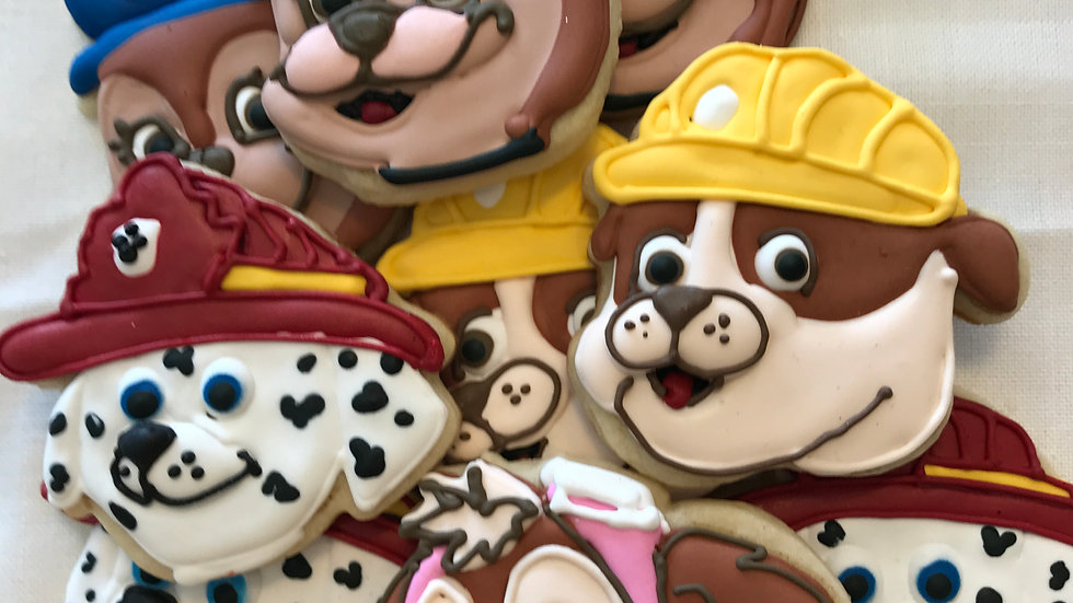 Paw Patrol One Dozen and 4 characters in the set