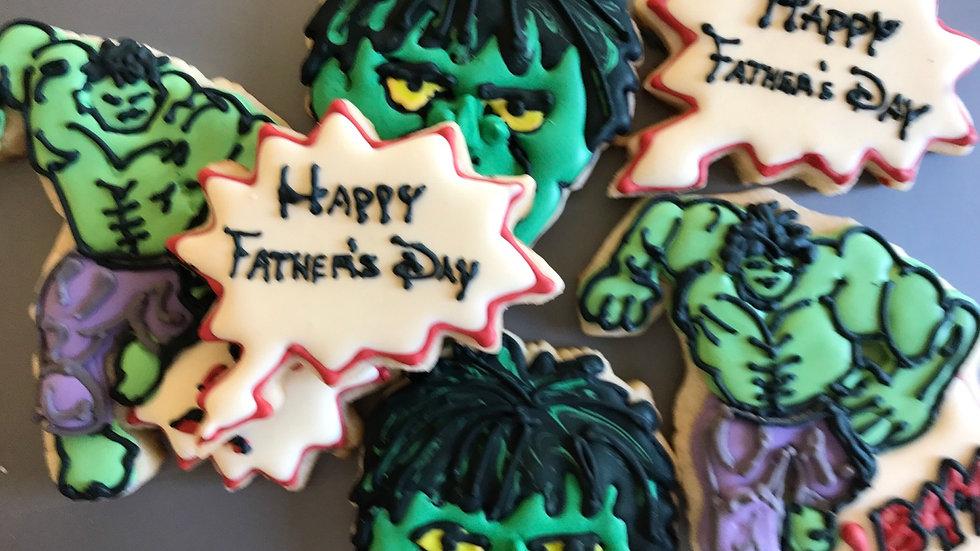 Hulk Birthday Theme One dozen and up to 4 designs