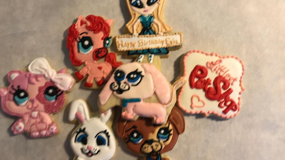 Littlest Pet Shop Cookies   One Dozen