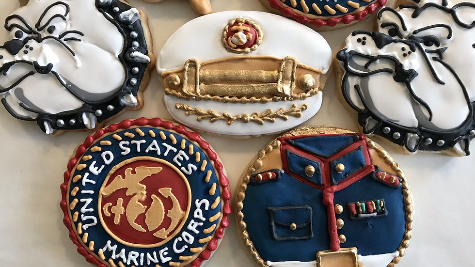 Custom made Military and Police Forces Cookies -OnevDozen