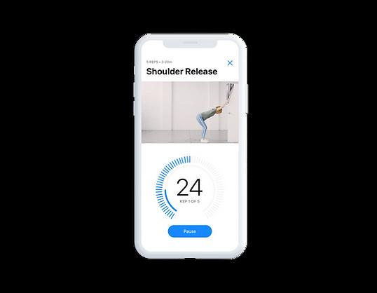 Shoulder release stretch for neck and shoulder pain