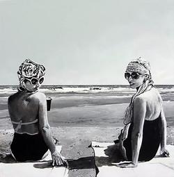 sundays at the beach. (SOLD)