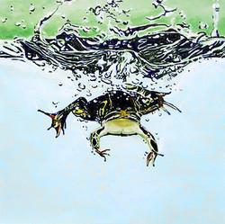 frog splash. (SOLD)
