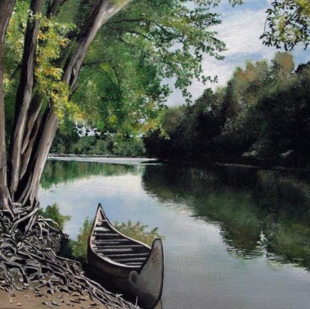 wabash river. (SOLD)