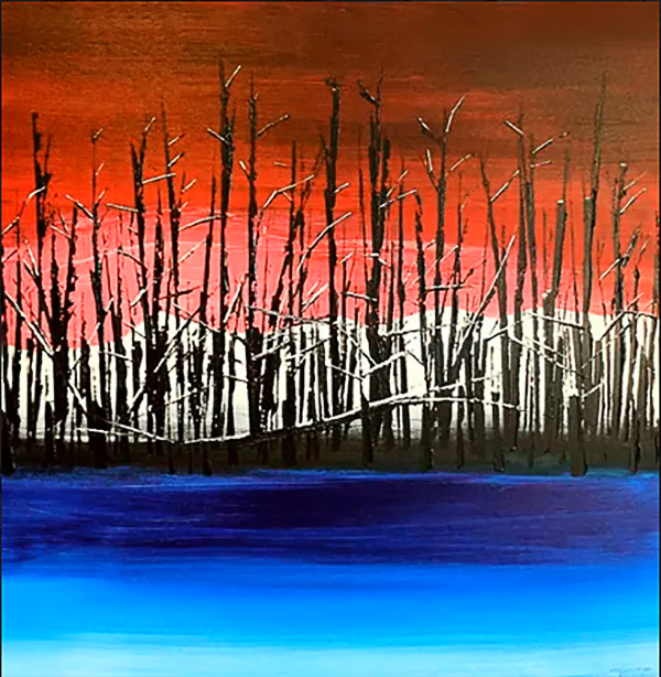 winter fire. (SOLD)