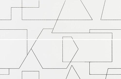 Декор LUMINOR RAYURES Decor Mate Blanco 29x89x2 (58x89)