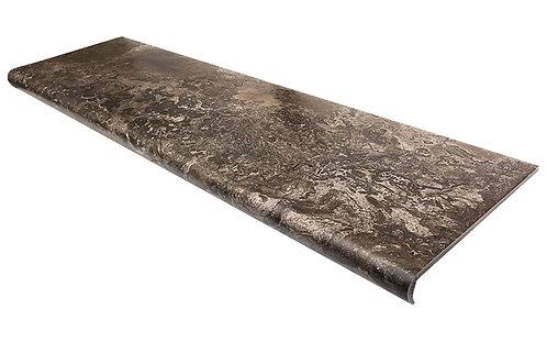 Керамогранит Fossil Floor Ступень Brown Lappato 32,5х120