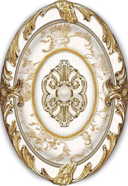 Декор BRIGITTE Oro-Beige Medallon 14x10
