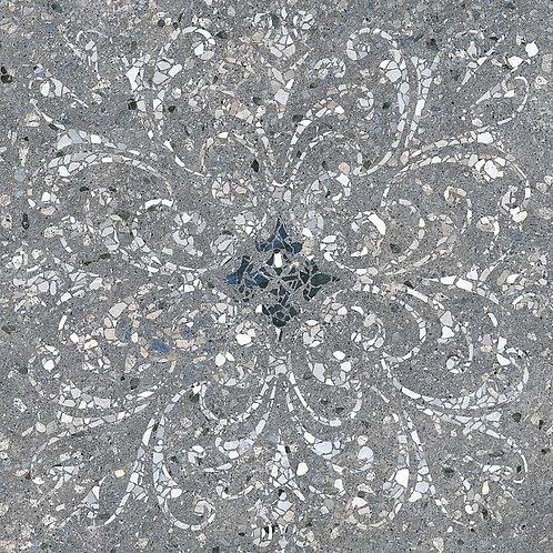 Керамогранит SG632900R Терраццо серый тёмный декорированный обрезной 60х60х11