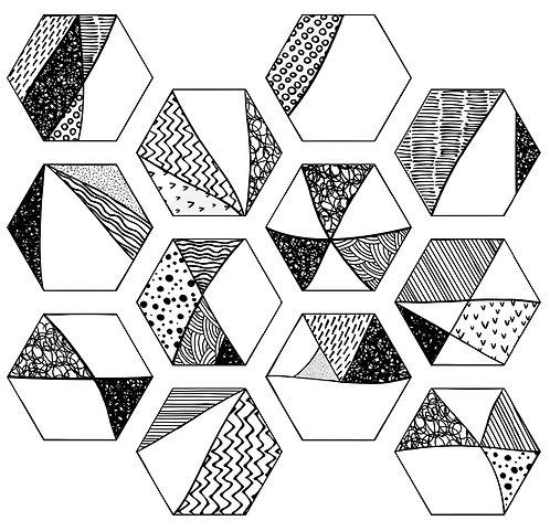 Керамогранит COMIC Hexa 23,2x26,7