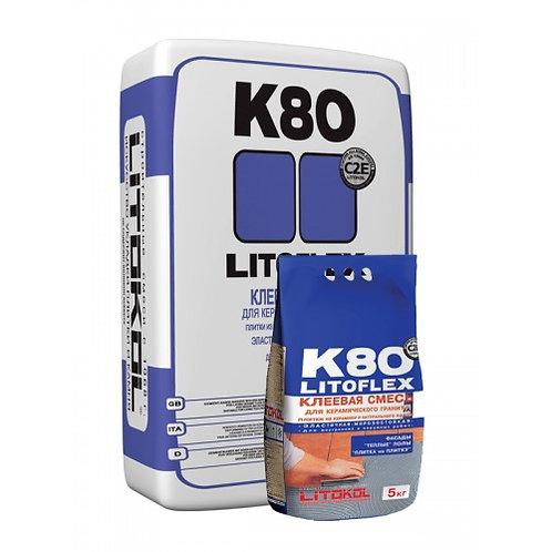 Клей LITOFLEX K80 серый 25 кг
