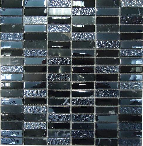 Мозаика Super Line (black) 300х300 чип 8х15х48