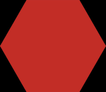 Керамогранит BASIC HEX.25 Red 25x22