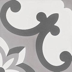 Керамогранит Cement Tradition Decor 2 Grey 18,5X18,5 см