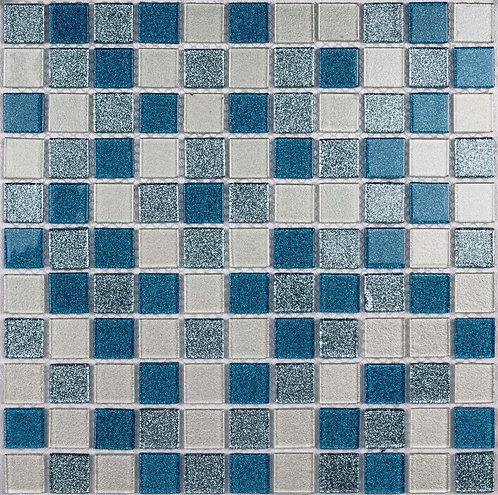 Мозаика Shine Blue 300х300 чип 4х25х25