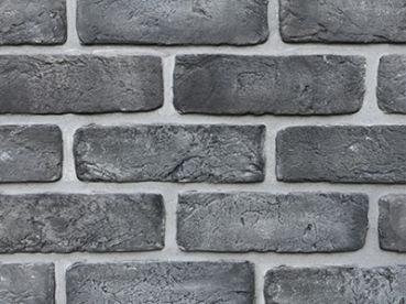 Кирпич Камнелит cтарый (графит) 21х6,5х1,2