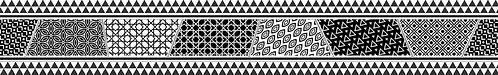 Бордюр Rialto black border 01 500х75