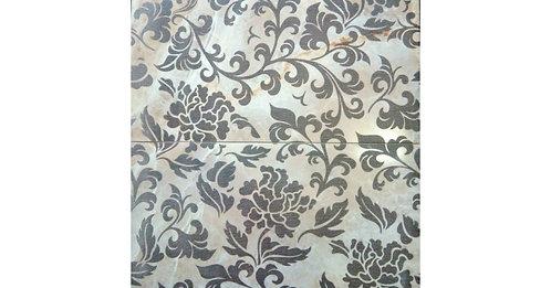 Керамогранит 600х600 Onice panno, цветы бежевый арт.DPR951