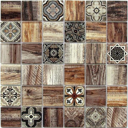 Мозаика Rabat Brown 300х300чип 6X48X48