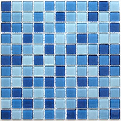 Мозаика Navy blu 300х300 чип 4х25х25