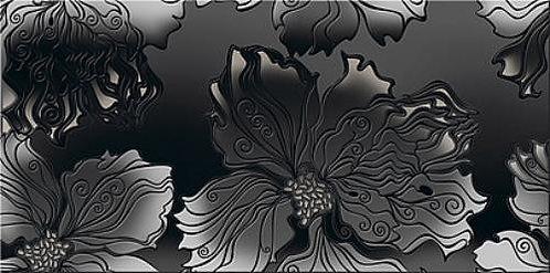 Декор 40,5*20,1 Валькирия Антрацит Цветы