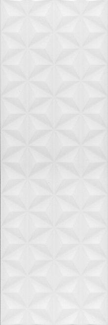 Керамическая плитка 12119R Диагональ белый структура обрезной 25x75x11