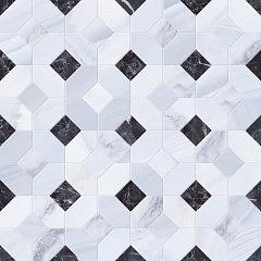 Мозаика Statuario Mosaico Abadia Perla 45X45