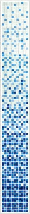 Растяжка мозаика Jump Blue №1-8 2400х300 чип 4х25х25