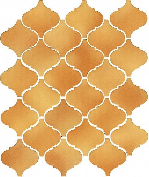 Керамическая плитка 65009 Арабески Майолика желтый 26х30
