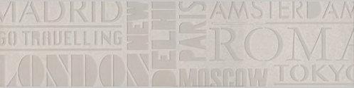 SBD007\DD3186 Декор Про Матрикс белый шрифты 15x60x11