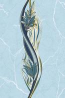 Декор без золота Александрия 200х300 голубой
