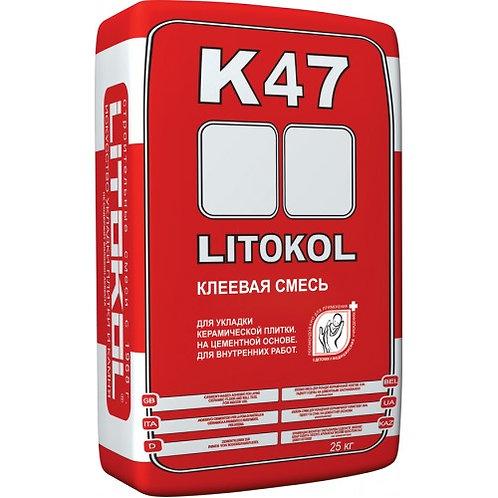 Клей LITOKOL K47 серый 25 кг